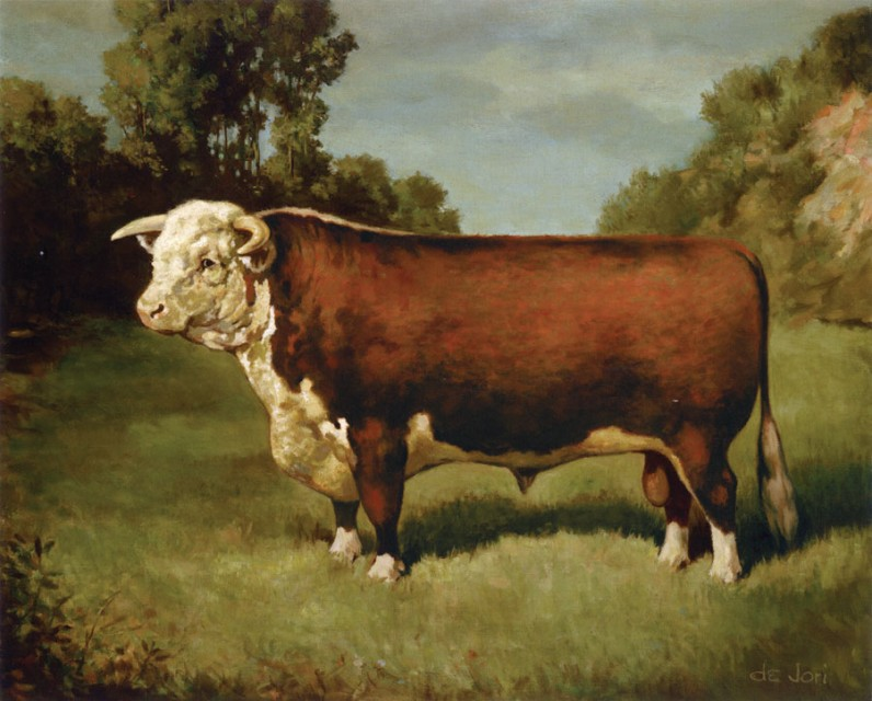 """Anxiety 4 - generally regarded as the """"mother of all American Herefords"""""""