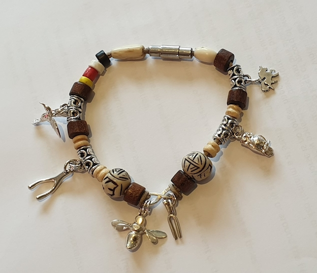 Bracelet with animal icons